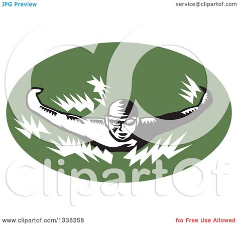 clipart of a retro woodcut clipart of a retro black and white woodcut swimmer