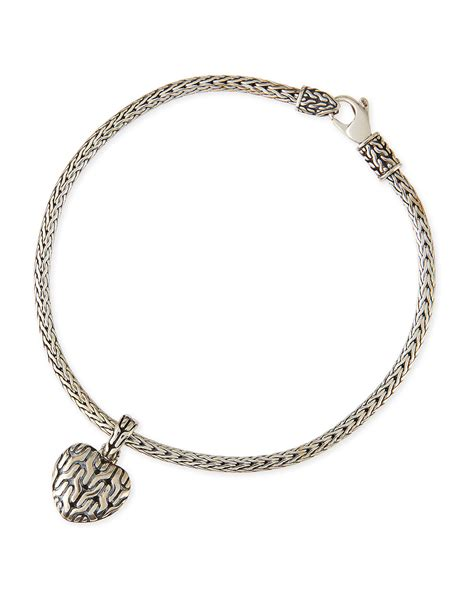 hardy classic chain bracelet with charm in