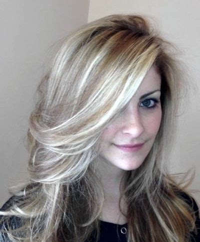 Highlights To Hide White Hair | image result for golden blonde highlights on gray hair