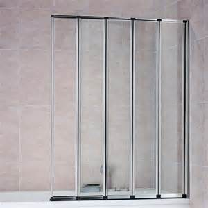 folding glass shower doors 4 5 fold folding bath shower screen door glass ebay