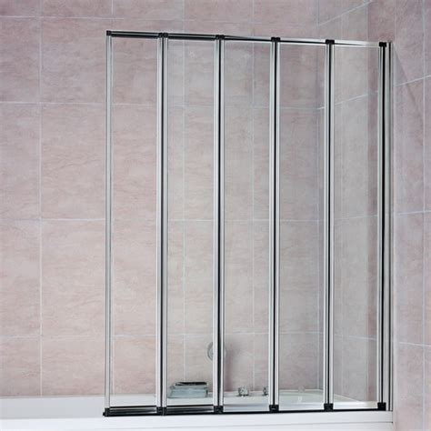 Folding Glass Shower Door 4 5 Fold Folding Bath Shower Screen Door Glass Ebay