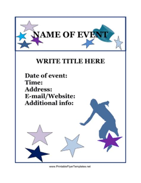 Printable Flyers Templates Free event flyer