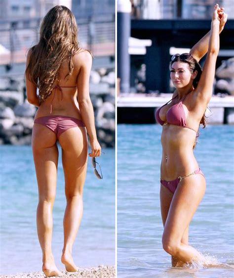 luisa zissman nearly falls out of her very low cut dress apprentice star luisa zissman reveals amazing bikini body