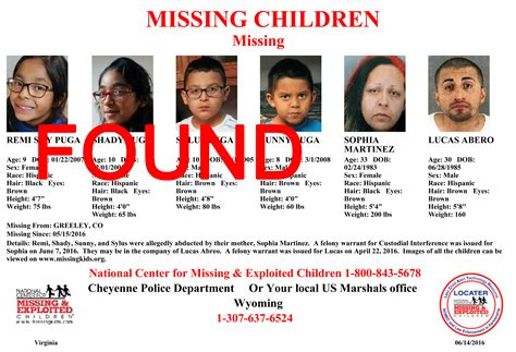 Missing Search Cheyenne Search For Missing Children Kfbc Am1240