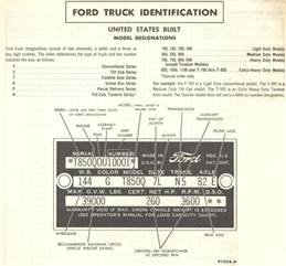 Ford Vin Number Lookup 1960 Build Date Ford Truck Enthusiasts Forums
