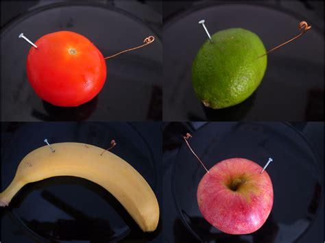 fruit battery energy harvesting experiment fruit battery kpeet
