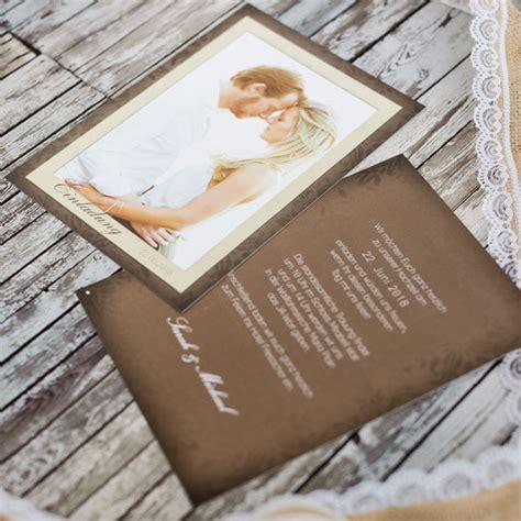 Hochzeitseinladungen Mit Foto Gestalten by Hochzeitseinladungen Gestalten Drucken Lassen