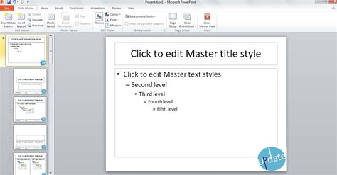 using the slide master to create professional powerpoint