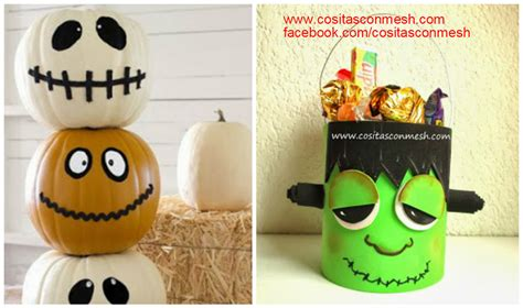 decorar para halloween manualidades calabazas decoradas para halloween manualidades