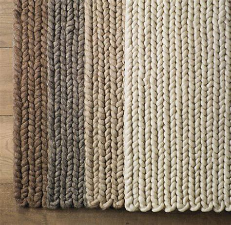 chunky knit rug sweater rugs restoration hardware crochet