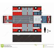 Paper Model Of A Fire Truck Stock Vector  Image 62016511