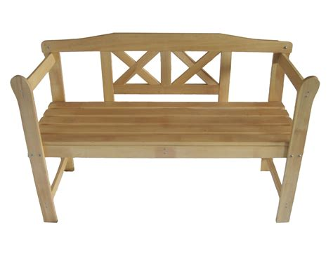 outdoor home wooden 2 seat seater garden bench furniture