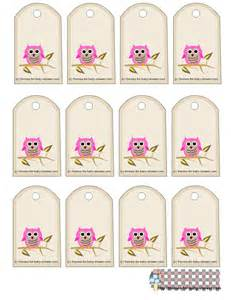 baby shower favor tags template free free owl baby shower favor tags printable templates