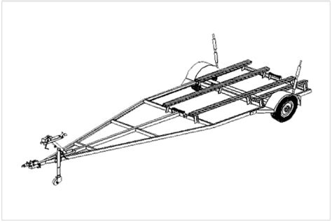 boat trailer plans free 16fb boat trailer plans variable length