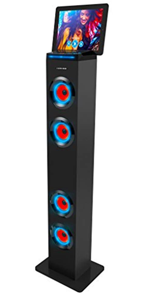sharper image led lights wireless speaker sharper image sbt1001bk wireless tower speaker with blue