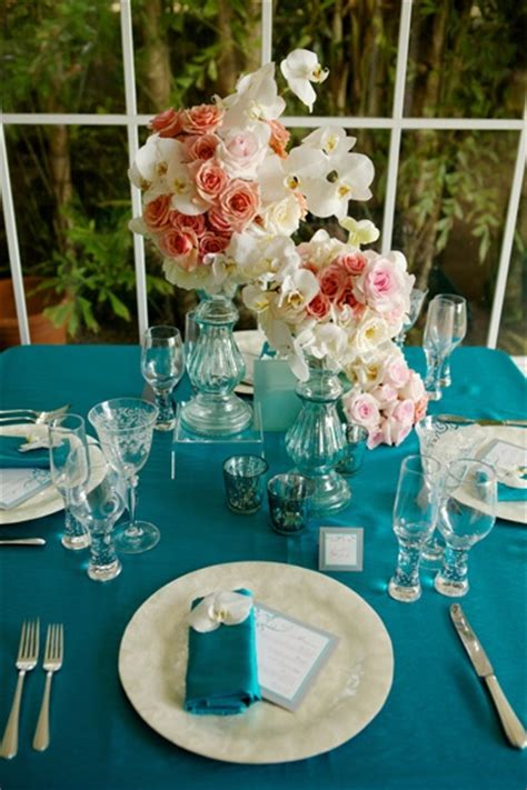simply lovely table coarl pink and green table 119 best teal weddings images on pinterest table