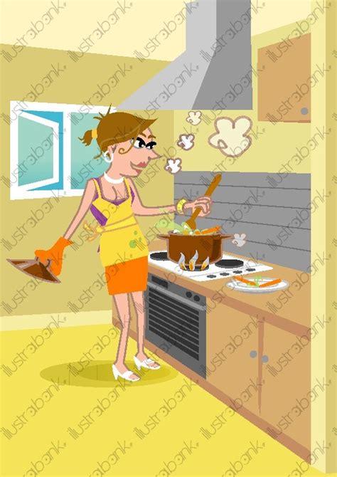 femme qui cuisine femme qui cuisine illustration libre de droit sur