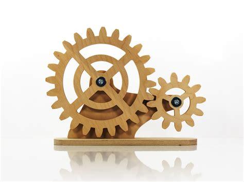 mechanical decor mechanical desk decor kinetic decor for desk rotating wooden
