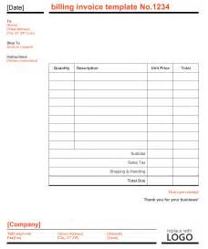 bill invoice template microsoft word billing invoice template word invoice
