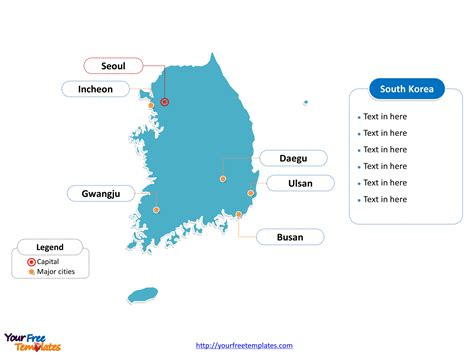 south korea city map free south korea editable map free powerpoint templates