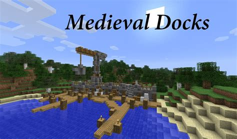 minecraft dog on boat let s build medieval docks minecraft youtube