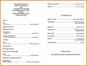 event program template free folded wedding program template bestsellerbookdb