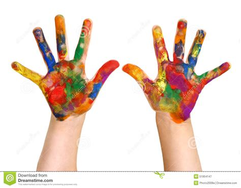 painting for free to play kindergartner rainbow painting painted stock