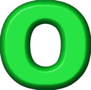 O presentation alphabet set green refrigerator magnet o