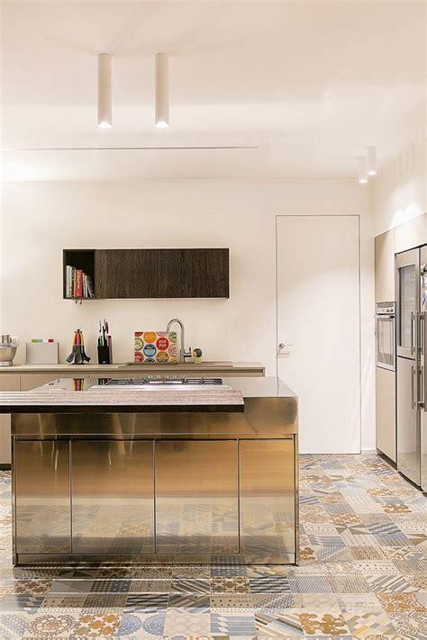 elegante moderno vintage  cocina suelos azulejos
