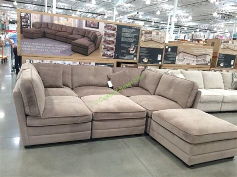 costco sectional bainbridge 7pc modular fabric sectional model cou4278 15