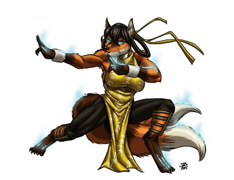 kitsune monk power up by prodigyduck on deviantart