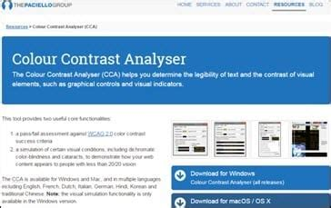 color contrast analyzer top 20 accessibility testing tools for web applications