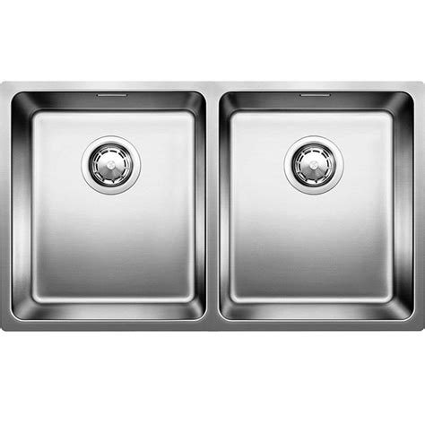 blanco stainless steel sink blanco andano 340 340 u stainless steel sink kitchen
