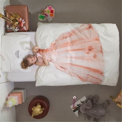 cool princess and astronaut dress up kids bedding by snurk