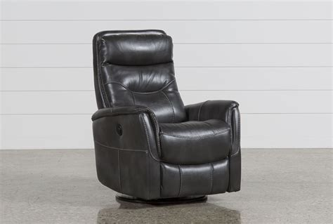 With Recliner Built In by Gannon Flint Power Swivel Glider Recliner W Built In