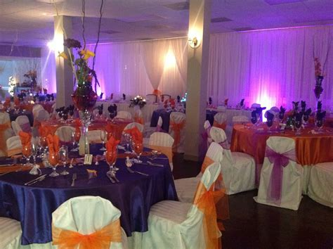 royal purple and burnt orange   Work Ideas   Table