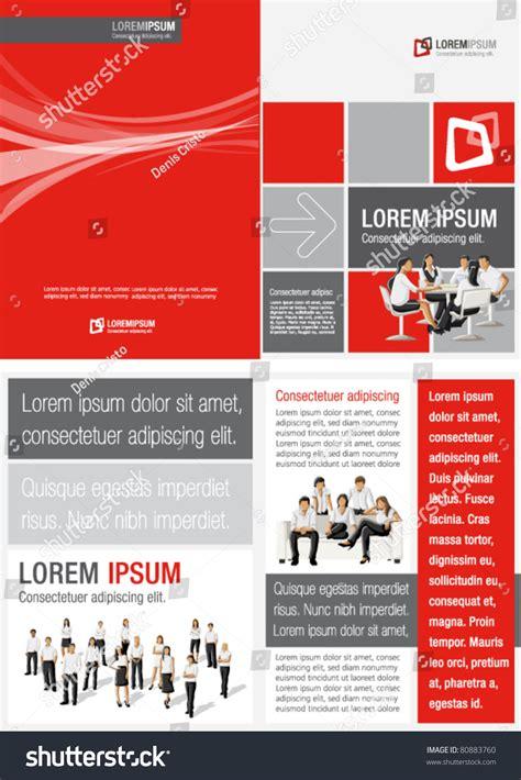 white black template advertising brochure stock vector