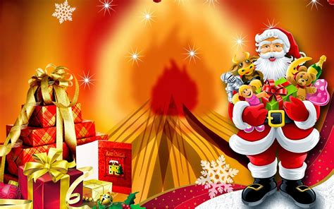 santa claus christmas gift christmas card hd wallpapers  wallpaperscom