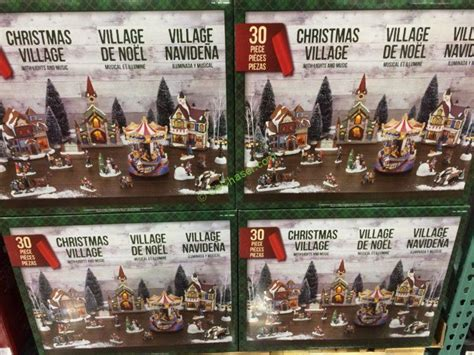 christmas village led lights music 30 piece set