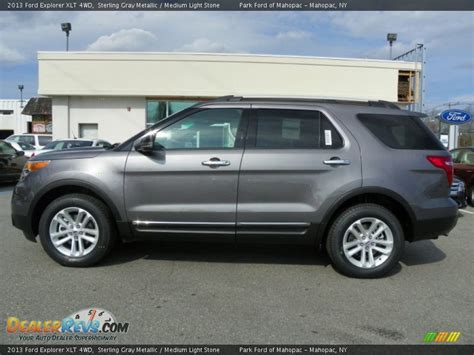 sterling gray metallic 2013 ford explorer xlt 4wd photo 1 dealerrevs