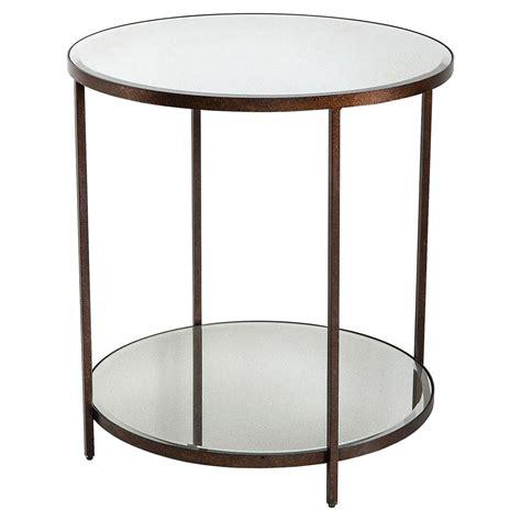 Mirror Center Table by Howard Industrial Loft Rust Mirror Center Table