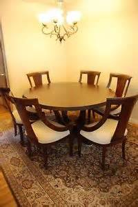 Dining Room End Chairs High End Round Dining Room Set W 6 Chairs Ebay