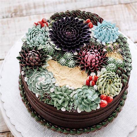 Wedding cake trend: Terrarium and succulent wedding cakes