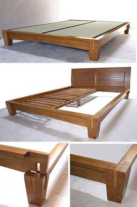 yamaguchi platform bed frame honey oak  tatamiroom