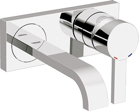Grohe Modern Bathroom Faucets Grohe 19300000 Chrome Two Handle Wall Mount Lav