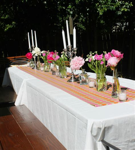 Outdoor Dinner Party Table Decorations Decorating And