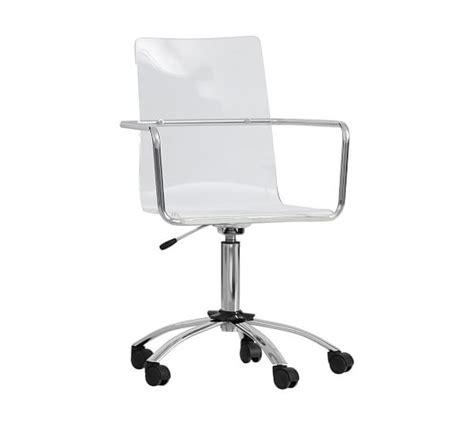 acrylic desk chair pottery barn