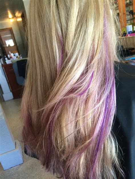 colored highlights best 25 purple streaks ideas on colored hair