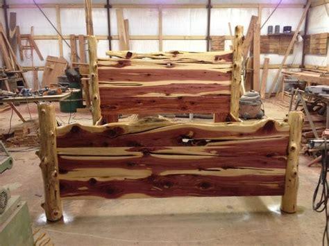 Rustic cedar bed paul s interests pinterest rustic and beds