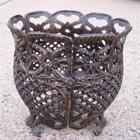 Cast Aluminum Planters by Oakland Living 12 In Flower Pot Cast Aluminum